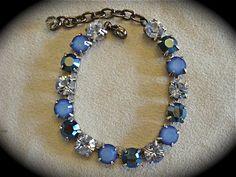 Sky Blue Swarovski Crystal Tennis Bracelet
