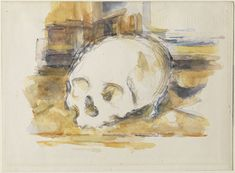 Study of a skull (1902-1904) Cezanne