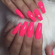 """neon rosa"" 601 für Susan Quinonez - New Ideas Neon Acrylic Nails, Bright Pink Nails, Neon Nail Polish, Neon Nails, Acrylic Nail Designs, Blue Nails, Neon Nail Colors, Neon Nail Designs, Pink Polish"