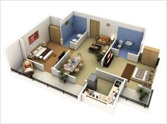 Two Bedrooms, Two Baths and Two Balconies with Double Comfort
