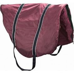 Dover Fleece-Lined All-Purpose Saddle Case- burgundy.  with monogram.  all puprose saddle size.