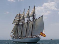 Juan Sebastian Elcano Spanish Navy school tall ship