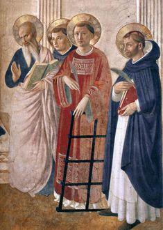BEATO ANGELICO - Madonna delle Ombre, dettaglio - 1439 (intorno al) o dopo il 1450 - affresco - corridoio Convento-Museo N. di San Marco