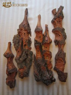 Ales the woodcarver: Unnamed carvings in cottonwood bark