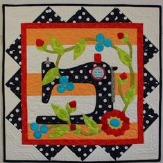 Pat sloan lets go sew straight line quilting.  The Splendid Sampler-Block 27-Sewing Machine.