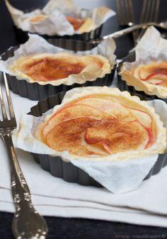 Dreierlei Liebelei: Superschnelle, feine Apfel-Zimt-Tartelettes für spontanen Lieblings-Besuch