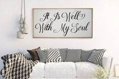 It is Well With My Soul Distressed Wood Sign by CraftyMamaGifts