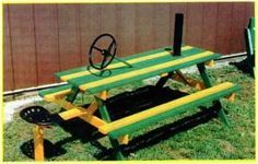 Just the colors. John deere picnic table