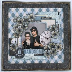 Layout for the Merly Impressions September 2017 crop kit, using the Barber Shoppe Kaisercraft collection. Scrapbook Journal, Baby Scrapbook, Scrapbook Pages, Scrapbook Layout Sketches, Scrapbooking Layouts, Digital Scrapbooking, Smash Book Pages, Heritage Scrapbooking, Freebies