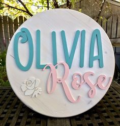 18 Wood Circle Sign Custom Made Name Round Sign Name Nursery Name Sign Wood Decor Wedding Gift **IMPORTANT** I love taking your custom orders but at this time, I cannot guarantee that they will be ready by Christmas. Cute Baby Names, Baby Girl Names, Middle Names For Girls, Nursery Name, Girl Nursery, Wood Names, Wood Circles, Wedding Decorations, Decor Wedding