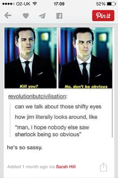 I hope no one else saw Sherlock being so obvious
