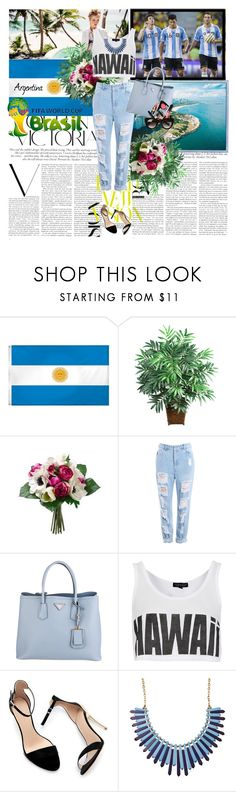 """""""World cup 2014-Argentina ♥"""" by anni000 ❤ liked on Polyvore featuring Victoria Beckham, Nearly Natural, Prada, Topshop, Zara, Chanel, Thierry Lasry, Argentina and WorldCup2014"""