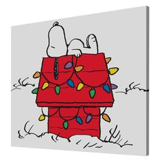Charles M. Schulz 'Snoopy Christmas Lights' Canvas Art