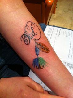 dad memorial tattoos for daughters Grandpa Tattoo, Daddy Tattoos, Future Tattoos, Body Art Tattoos, New Tattoos, Fish Tattoos, Cool Tattoos, Animal Tattoos, Tatoos
