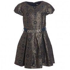 Gold Dress With Jewel Waist