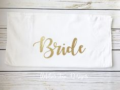 A personal favorite from my Etsy shop https://www.etsy.com/listing/501443819/glitter-bride-towel-great-for-honeymoon