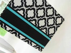 Great colors.  Don't you think?  Are you sold on the turquoise yet, Kristen?  Black White and Turquoise Wedding Guest Book