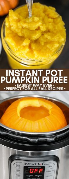 Learn the easiest way to make Pumpkin Puree from scratch using the Instant Pot! Use homemade pumpkin puree in all your favorite fall recipes! Learn the easiest way to make Pumpkin Puree from scratch using the Instant Pot! Use homemade Pumpkin Puree Recipes, Homemade Pumpkin Puree, Pureed Food Recipes, Cooking Recipes, Canning Pumpkin Puree, Pumpkin Dinner Recipes, Drink Recipes, Spicy Recipes, Delicious Recipes