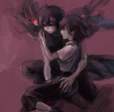 Ayato rescuing Hinami