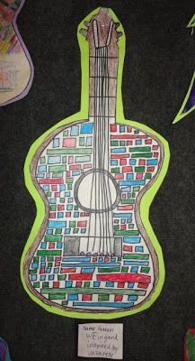 Thomas Elementary Art: 3rd Grade Artist Inspired Guitars