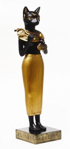 Bastet, the Egyptian cat goddess. Egyptian Cat Goddess, Egyptian Cats, Egyptian Mythology, Egyptian Symbols, Ancient Egyptian Art, Bast Goddess, Egyptian Temple, Cats In Ancient Egypt, Ancient History