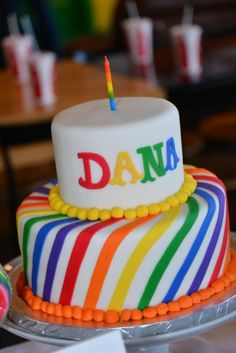 Rainbow First Birthday Party Korean Dohl