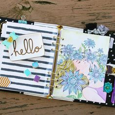 Coloring + Planners? YES! We will be coloring away at our Planner Launch party on Saturday in Sharon's class! Here's just one sample of the beautiful planner divider you will be creating with our watercolor + planner products! #mpp #coloringplanner #plannerembellishments #planneraddict #myprimaplannergirls #plannerlove #myprimaplanner