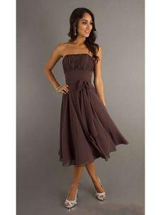 Strapless Knee Length Short Homecoming Dress
