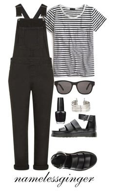 """""""untitled #256"""" by namelessginger ❤ liked on Polyvore featuring J.Crew, Topshop, OPI, H&M, Dr. Martens and Christian Dior"""