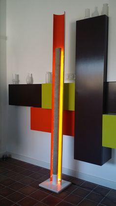 Core, acier et béton, Led #lampe #design #art #acier #béton