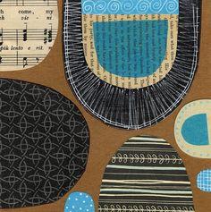 susan black design Shape Patterns, Color Patterns, Print Patterns, Mixed Media Collage, Collage Art, Collages, Susan Black, Stamp Printing, Color Shapes