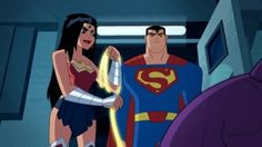 Superman and Wonder Woman from Justice League Action! Superman a1f5f34fe53
