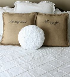 Nest of Posies - love the pillows