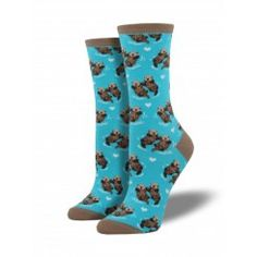 Blue Significant Otter Socks (Women's)