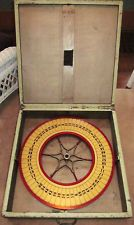 ANTIQUE VINTAGE CARNIVAL CASINO GAMBLING ROULETTE WHEEL OF FORTUNE WOODEN GAME