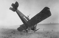 A German Hannover CL III shot down on Oct. 4, 1918, by American machine gunners in the Argonne.