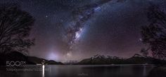 Starry Night  This is a nightscape panorama taken on a clear winter's night near Queenstown New Zealand. In the middle you can see the Milky Way rising over the calm waters of Lake Wakatipu and on the right the two bluish Magellanic Clouds can be seen through the tree. Hope you enjoy the photo.  Image credit: http://ift.tt/29pf1p9 Visit http://ift.tt/1qPHad3 and read how to see the #MilkyWay  #Galaxy #Stars #Nightscape #Astrophotography
