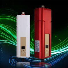 Huishoudelijke Tankless Boiler Tap Elektrische Boiler Instant Douche Voor Keuken Badkamer 5500 W Rood