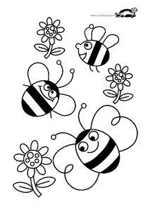 ausmalbild biene am bienenstock kiga malvorlage pinterest bienen bienenstock und bienen. Black Bedroom Furniture Sets. Home Design Ideas
