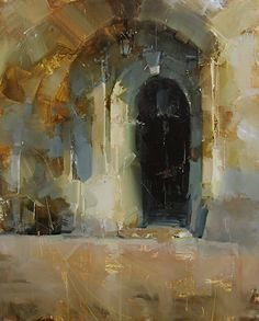 Searching for Center by Tibor Nagy Oil ~ 16 x 13