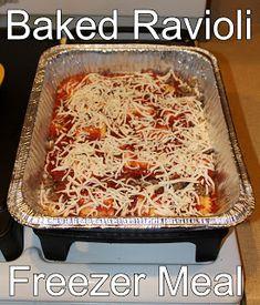 Baked Ravioli Freezer Meal