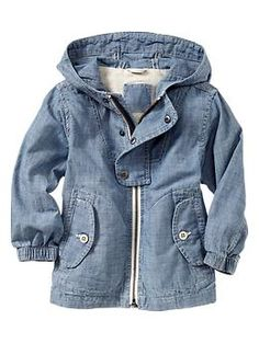 love the details on this Chambray windbreaker for toddler boys | Gap