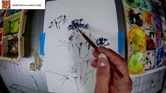Ginette Paints Watercolor and Ink Milk Thistles Snipped 2