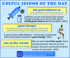 Three idioms that are in the news a lot these days, as we enter a new phase of vaccine development. Learning English Online, English Language Learning, American English, Idioms, Learn English, Languages, Vocabulary, Helpful Hints, Improve Yourself