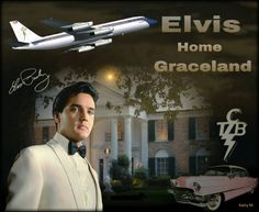 Elvis Home Graceland Mansion, Graceland Elvis, Elvis Presley, Elvis Quotes, Burning Love, Lisa Marie Presley, Unique Photo, Mississippi, Rock N Roll