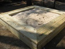 Sand Box from Kaboom - several other outdoor plans like picnic tables and benches