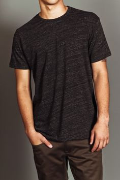 US Blanks Men's Tri-Blend Crew Tee Tri-Charcoal