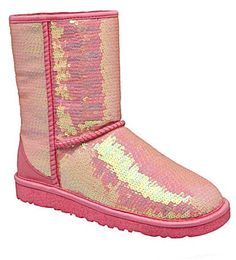 Iridescent UGG boots