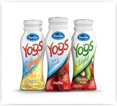 3D - Shrink Wrap Yogurt Bottle - Packaging design by Sergio Fernández , via Behance