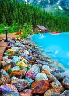 Rocky Shore, Lake Louise, Canada